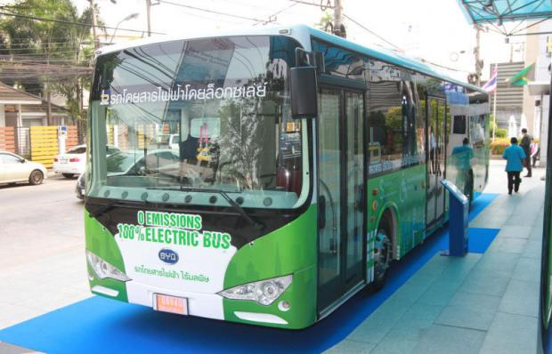 Less noise pollution in Bangkok with new Electric buses ?!